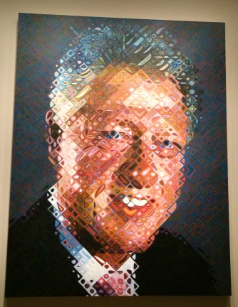Bill Clinton, Chuck Close, 2012. National Portrait Galery, Washington D.C