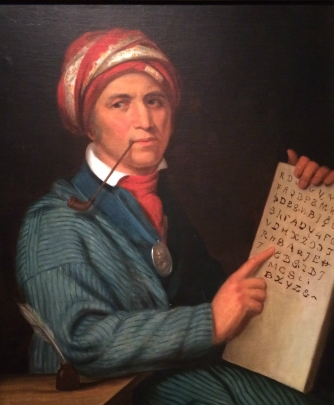 'Sequoya', Henry Inman, 1830. National Portrait Gallery, Washington DC.