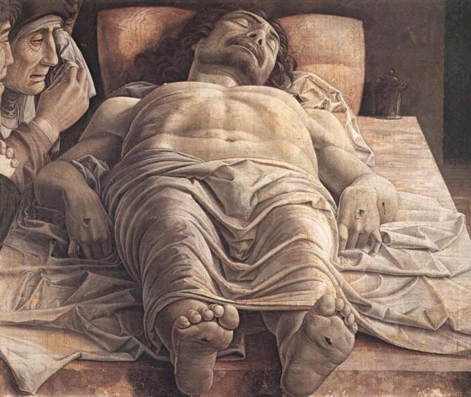 lamentación de cristo muerto andrea mantegna