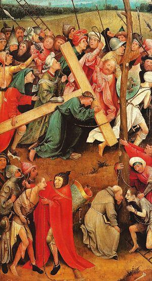 Hieronymus_Bosch cristo con la cruz a cuestas
