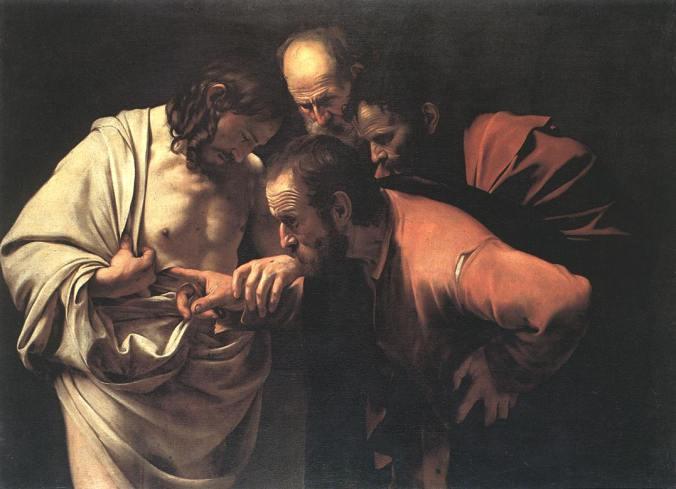 la incredulidad de san tomas Caravaggio 1600