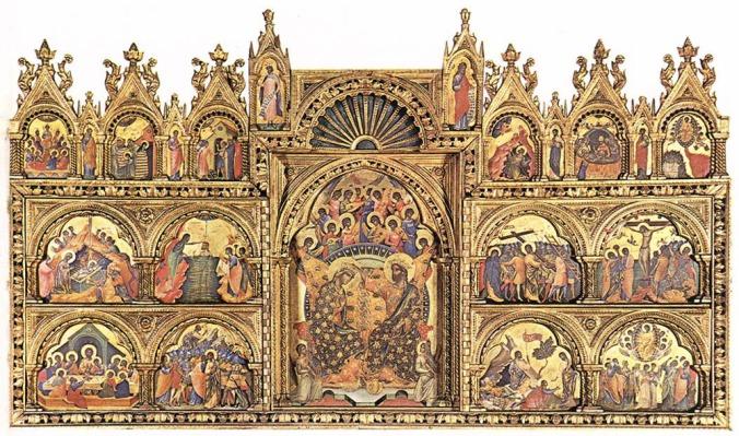 paolo veneziano conoracion de loa virgen